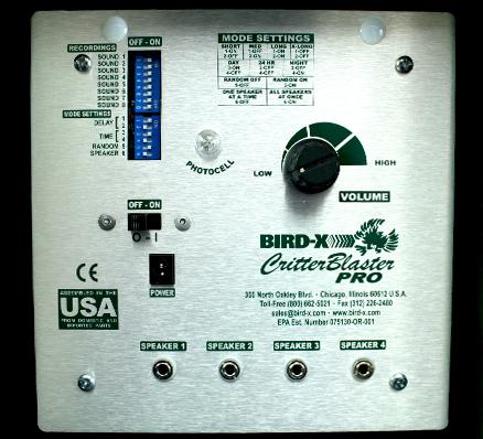 Critter Blaster Pro Control Closeup
