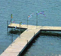 Irri-Tape protects dock from seagull droppings