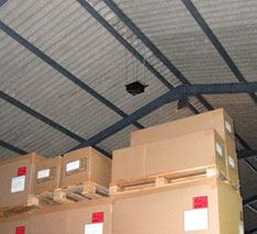 Ultrasonic bird control warehouse application