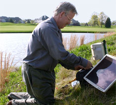 Dr. Whitford installs GooseBuster at golf course