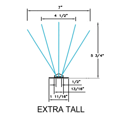 extra tall spike CAD diagram